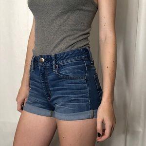 High Waisted Cuffed Shorts